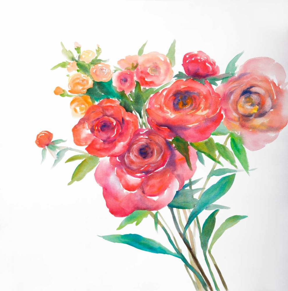 Watercolor Bouquet of Flowers Atelier B Art Studio 163055