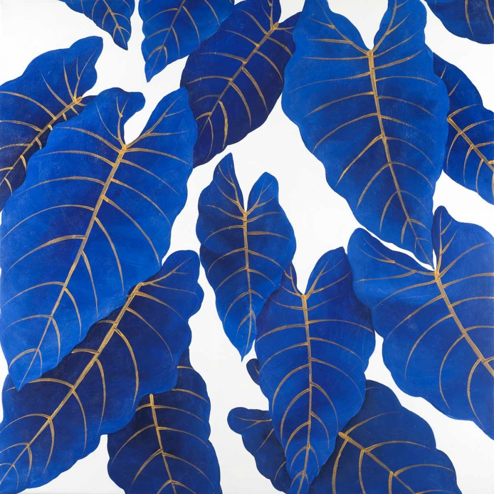 Tropical Abstract Blue Leaves Atelier B Art Studio 163060