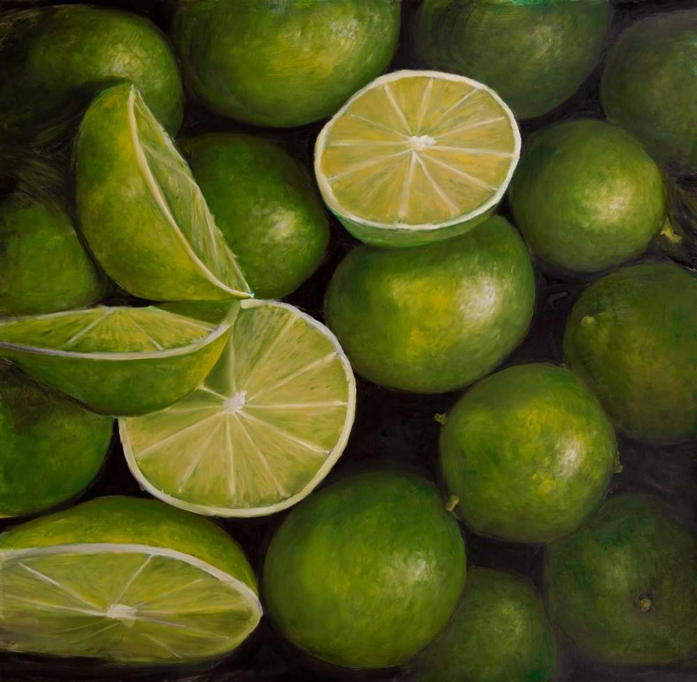 Basket of Limes Fruit Atelier B Art Studio 154172