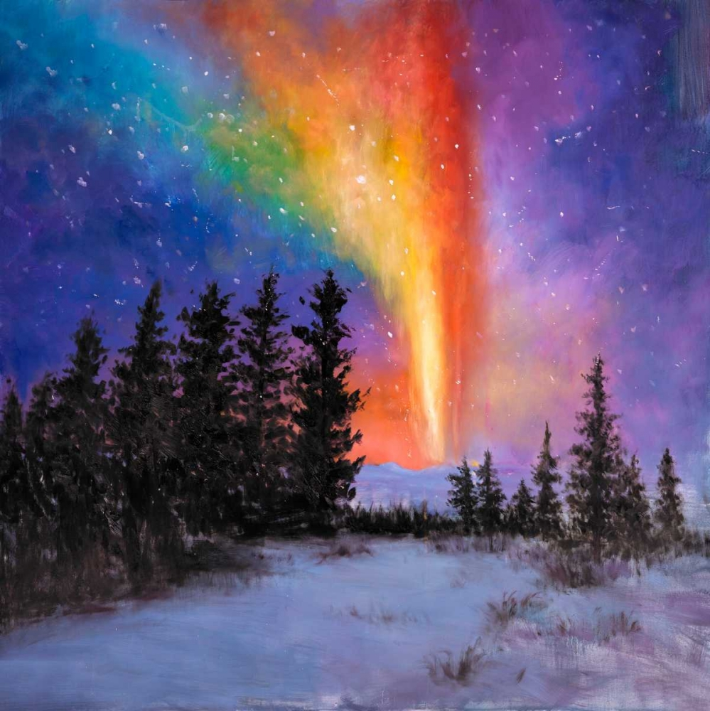 Aurora Borealis in the Forest Atelier B Art Studio 163064
