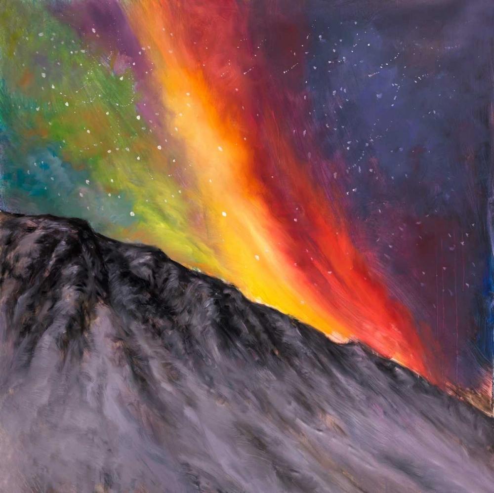 Aurora Borealis in the Mountain Atelier B Art Studio 163065