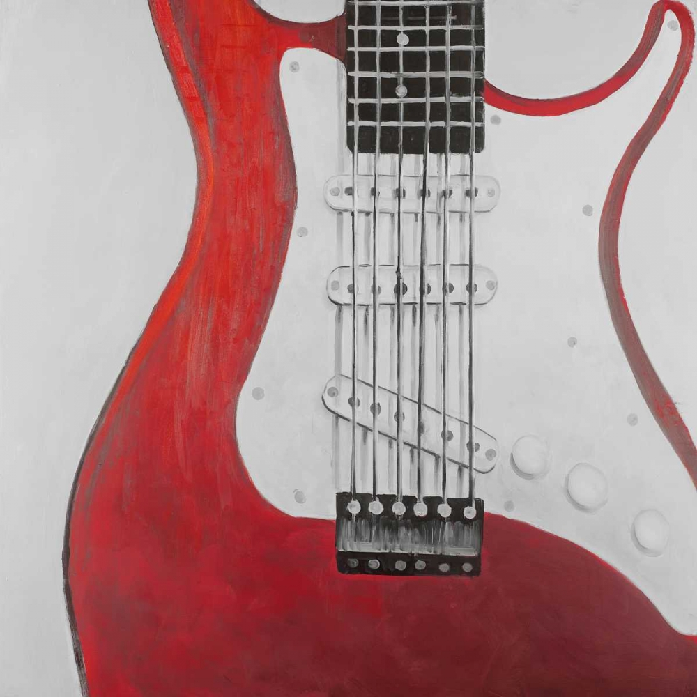 Red Electric Guitar Atelier B Art Studio 151006