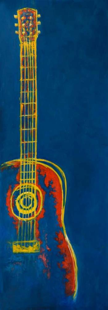 Modern Blue Abstract Guitar Atelier B Art Studio 163079