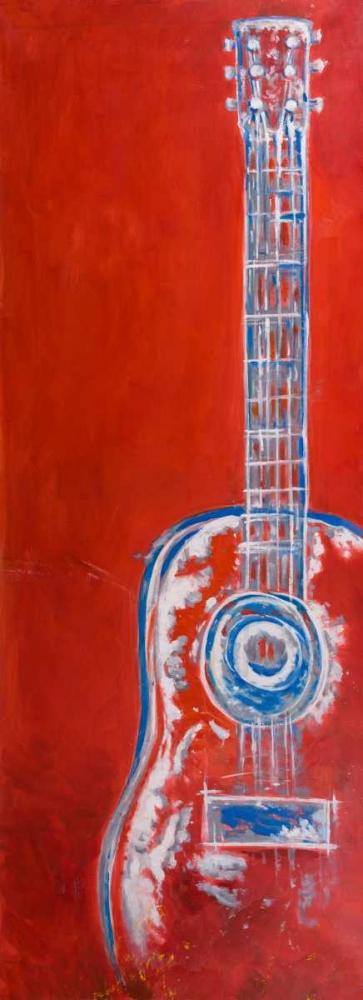 Modern Red Abstract Guitar Atelier B Art Studio 163080