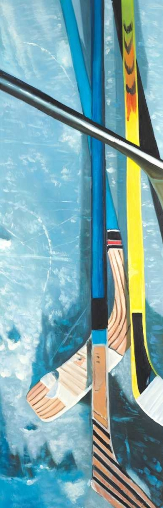 Hockey Sticks on Ice Atelier B Art Studio 151025