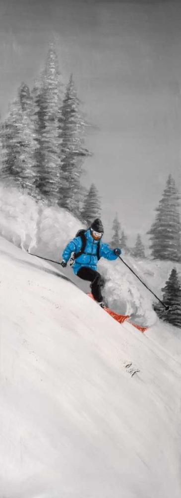 Man Skiing in Mountain Atelier B Art Studio 151030
