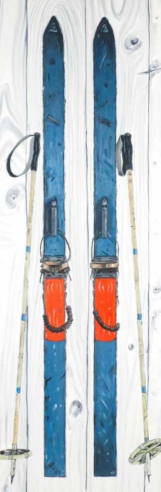 Vintage Blue Ski Atelier B Art Studio 163086
