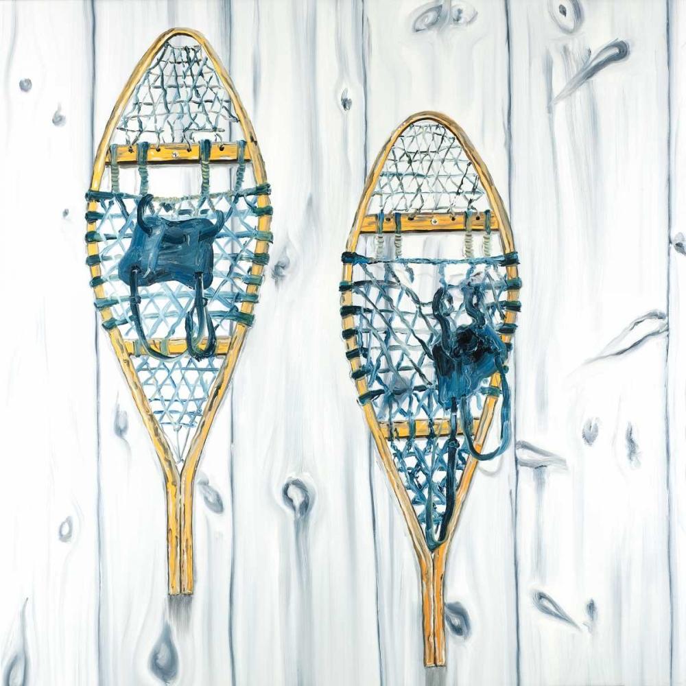 Set of Vintage Wood Snowshoes Atelier B Art Studio 163088