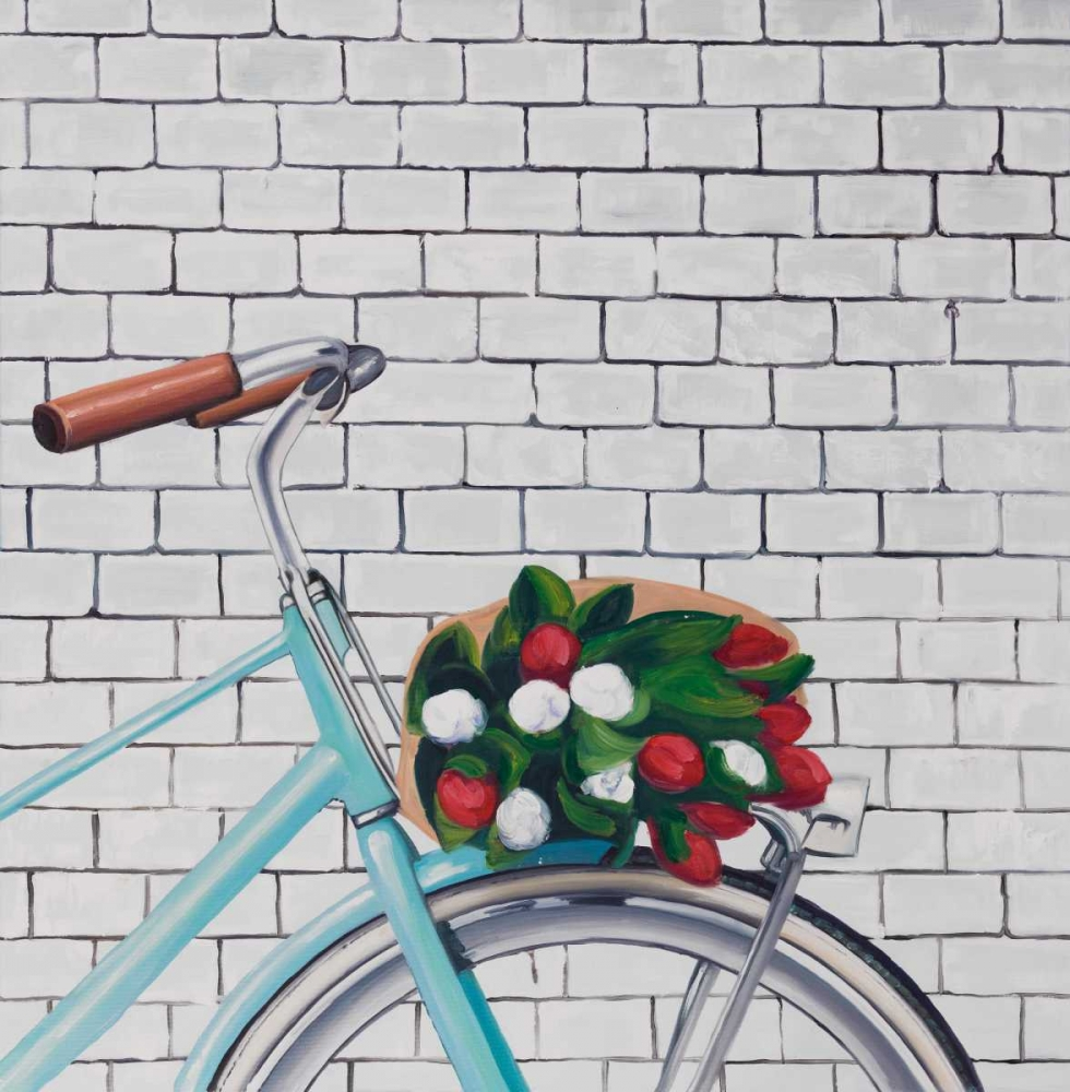 Bicycle with a Bouquet of Tulips Atelier B Art Studio 151045