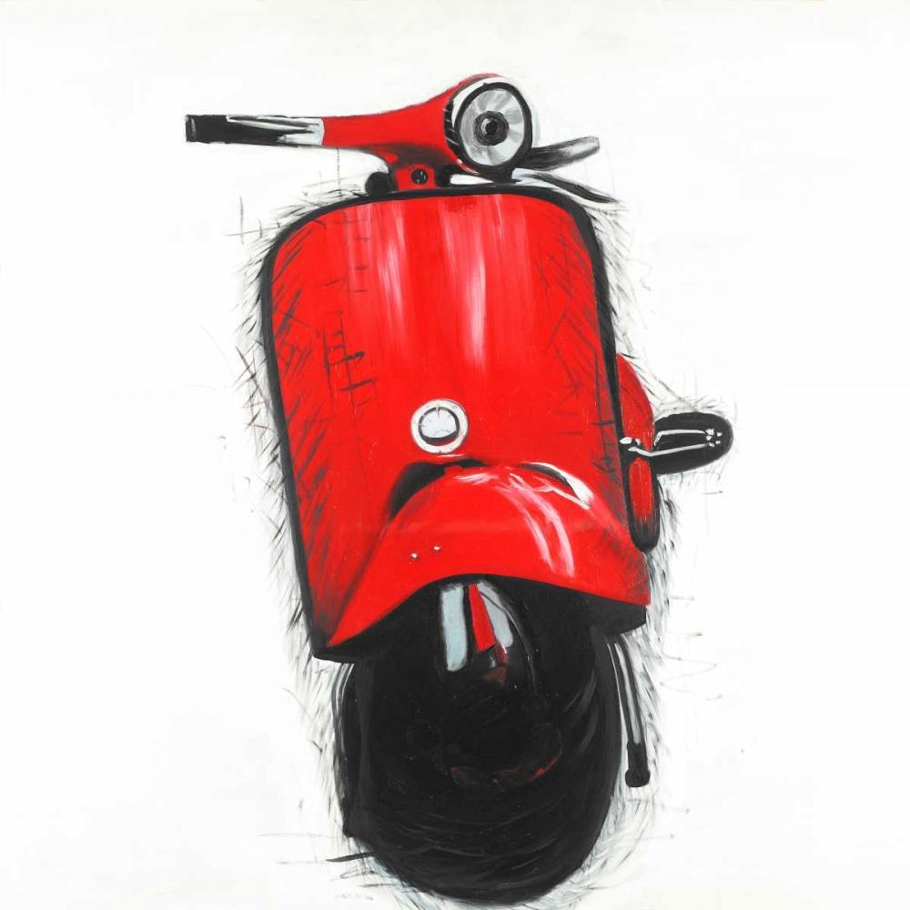 Red Italian Scooter Atelier B Art Studio 163091