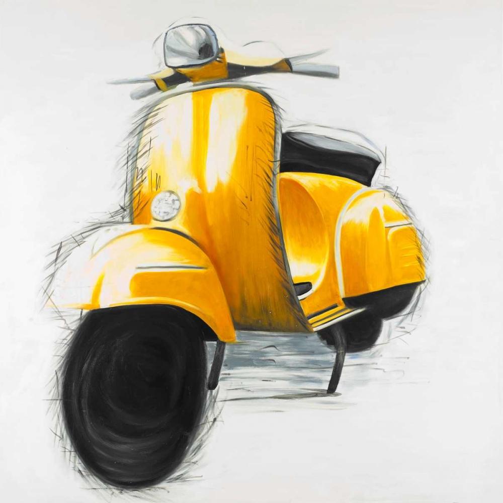 Yellow Italian Scooter Atelier B Art Studio 163092